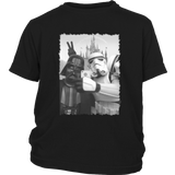 Stormtrooper and Darth Vader Selfie In Disneyland - Star Wars Shirt