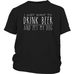 Drink Beer Pet My Dog Tshirt gift for Dog and Beer Lover
