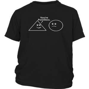 You're Pointless Funny Math Sarcastic Nerd Geek Graphic Funny t Shirt