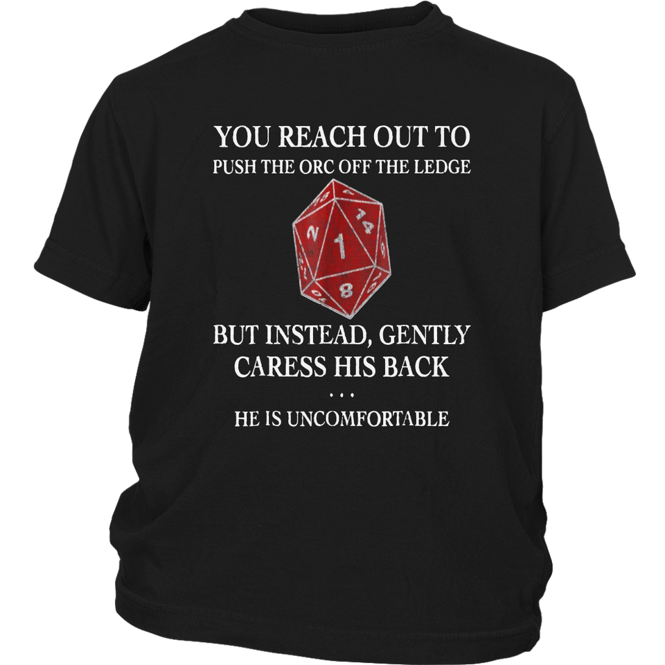 RPG DND Reach Out Orc Fail D20 Boardgame Shirt