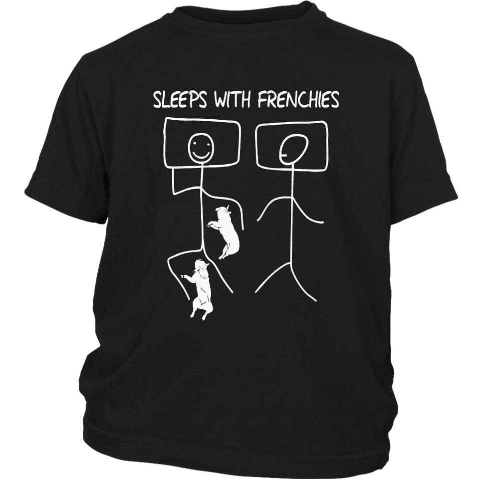 Sleeps with Frenchie French Bulldogs Mom Mothers Day Shirt