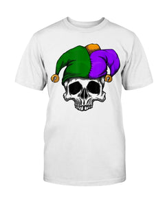 Mardi Gras Carnival Mask Sugar Skull Jester Clown Costume Tee Shirt