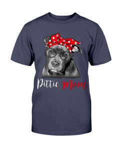 Pitbull Dog Lovers Pittie Mom T-Shirt