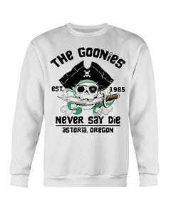 Official The Goonies Est 1985 Never Say Die Astoria Oregon Shirt
