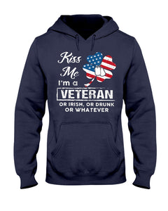 Kiss Me Veteran Irish Drunk Patrick Shirt