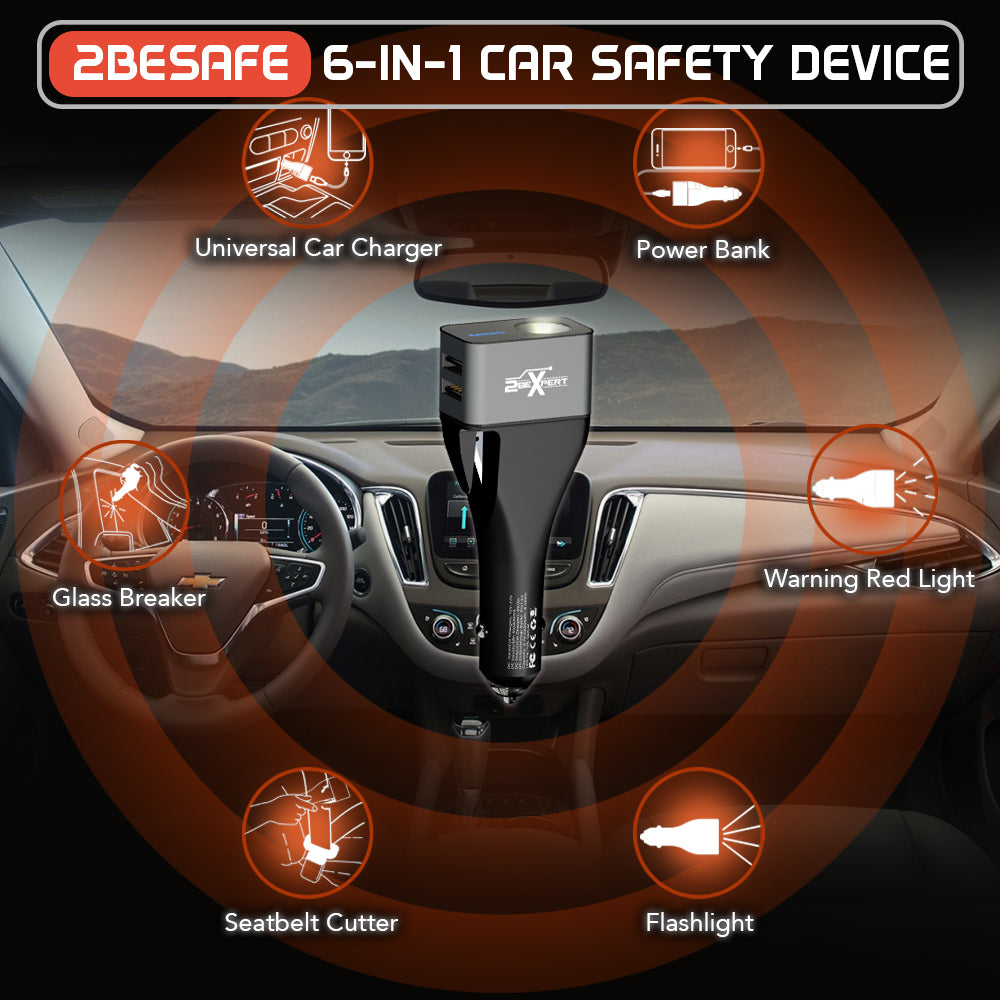 2BESAFE 6 IN 1 CAR SAFETY DEVICE