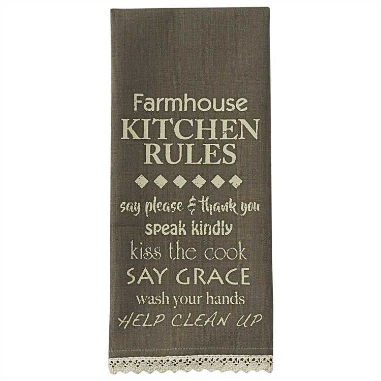 Kitchen Rules Dish Towel