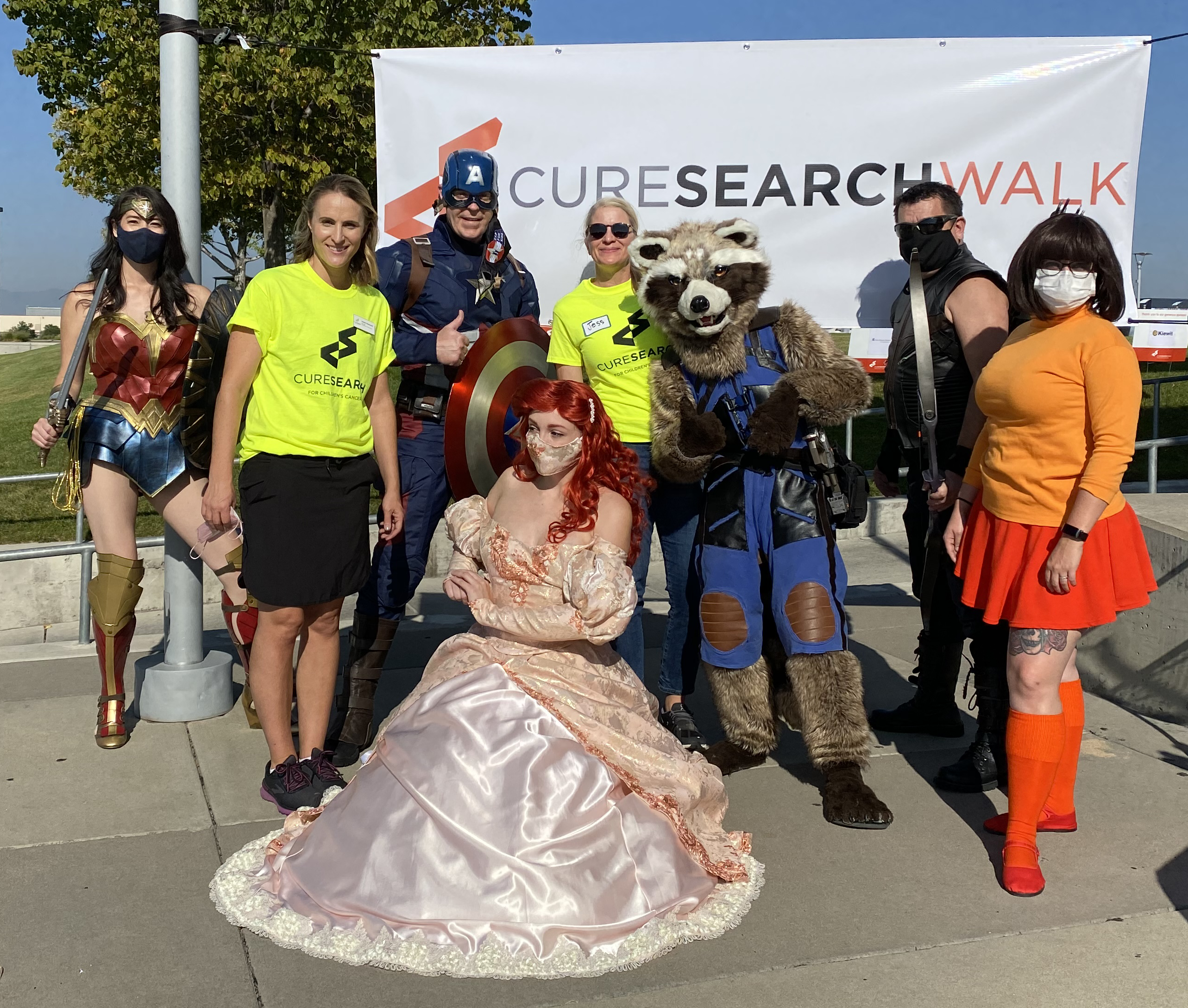 2021 CureSearch Walk uniting to end children's cancer featuring Jess Armstrong