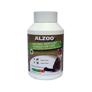 ALZOO Natural Repellent Cleansing Powder for Cat