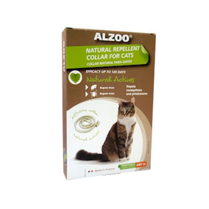 ALZOO Natural Flea & Tick Collar for Cat