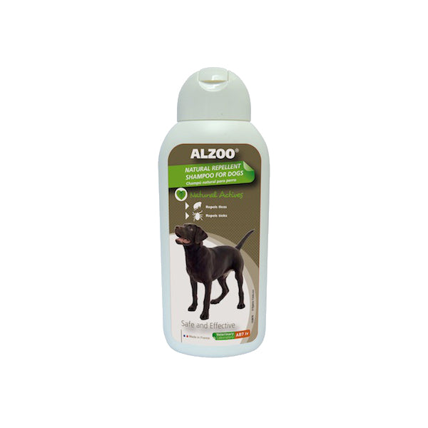 ALZOO Natural Flea & Tick Shampoo for Dog 13.5oz