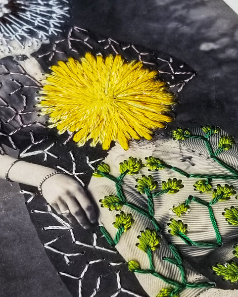 """Dandelions"" - limited edition embellished art print"