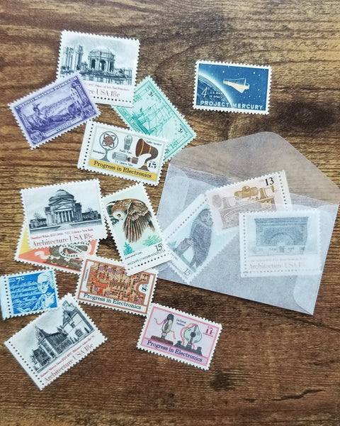 Vintage stamp pack for mailing (or photo styling!)