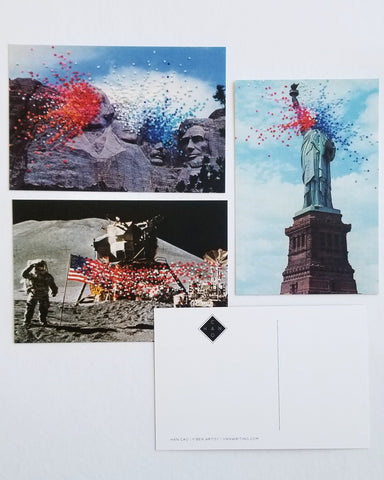 Art postcard pack - Patriotic