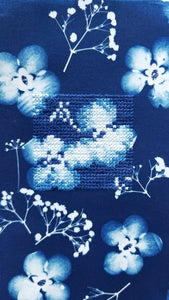 Botanical Cyanotype series - Gentle petals