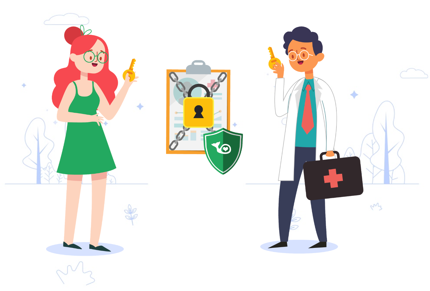 private key smart contract healthcare