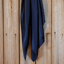 "Load image into Gallery viewer, 44"" Navy Charmeuse"