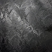 "Load image into Gallery viewer, 35"" Black Paisley Jacquard"
