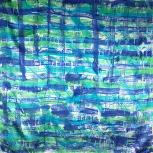 "34"" Blue Green Plaid Wildrag"