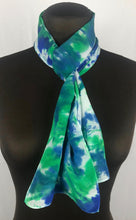 "Load image into Gallery viewer, 8""x52"" Blue Green Blues Long Scarf"