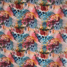 "Load image into Gallery viewer, 33"" Floral Skull Print Chiffon"