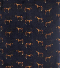 "Load image into Gallery viewer, 33"" Navy Horse Print Chiffon"
