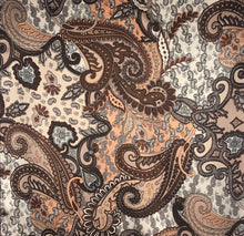 "Load image into Gallery viewer, 35"" Chocolate Brown Paisley"