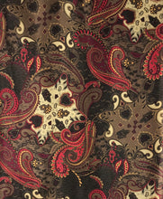 "Load image into Gallery viewer, 44"" Golden Brown Paisley"