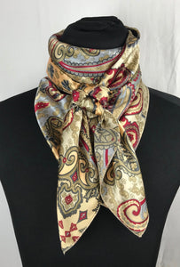 "44"" Light Tan Paisley Print"