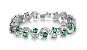 Luxury Romantic Cubic Zirconia Bracelets Jewelry - Just Experience