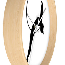 Load image into Gallery viewer, Aerialist aerial hoop acrobat in Lyra Wall clock (layback)