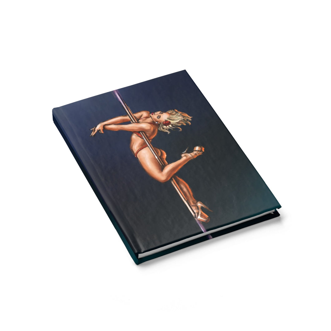 Pinup burlesque pole dancer Journal - Ruled Line