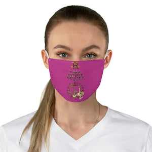 Aerial hoop chandelier girl Fabric Face Mask-bright pink