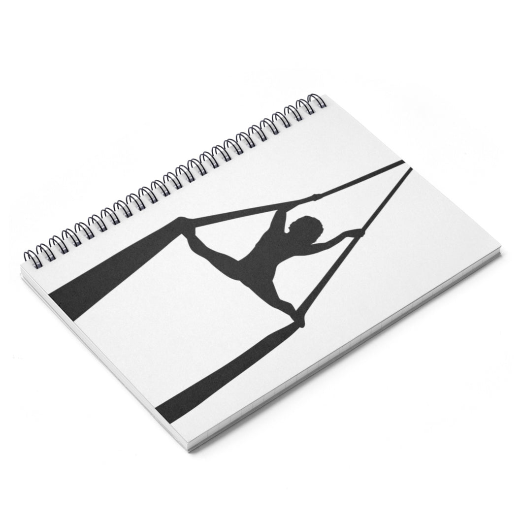 Aerialist aerial silks acrobat Spiral Notebook (splits) - Ruled Line