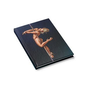 Pinup burlesque pole dancer Journal - Blank