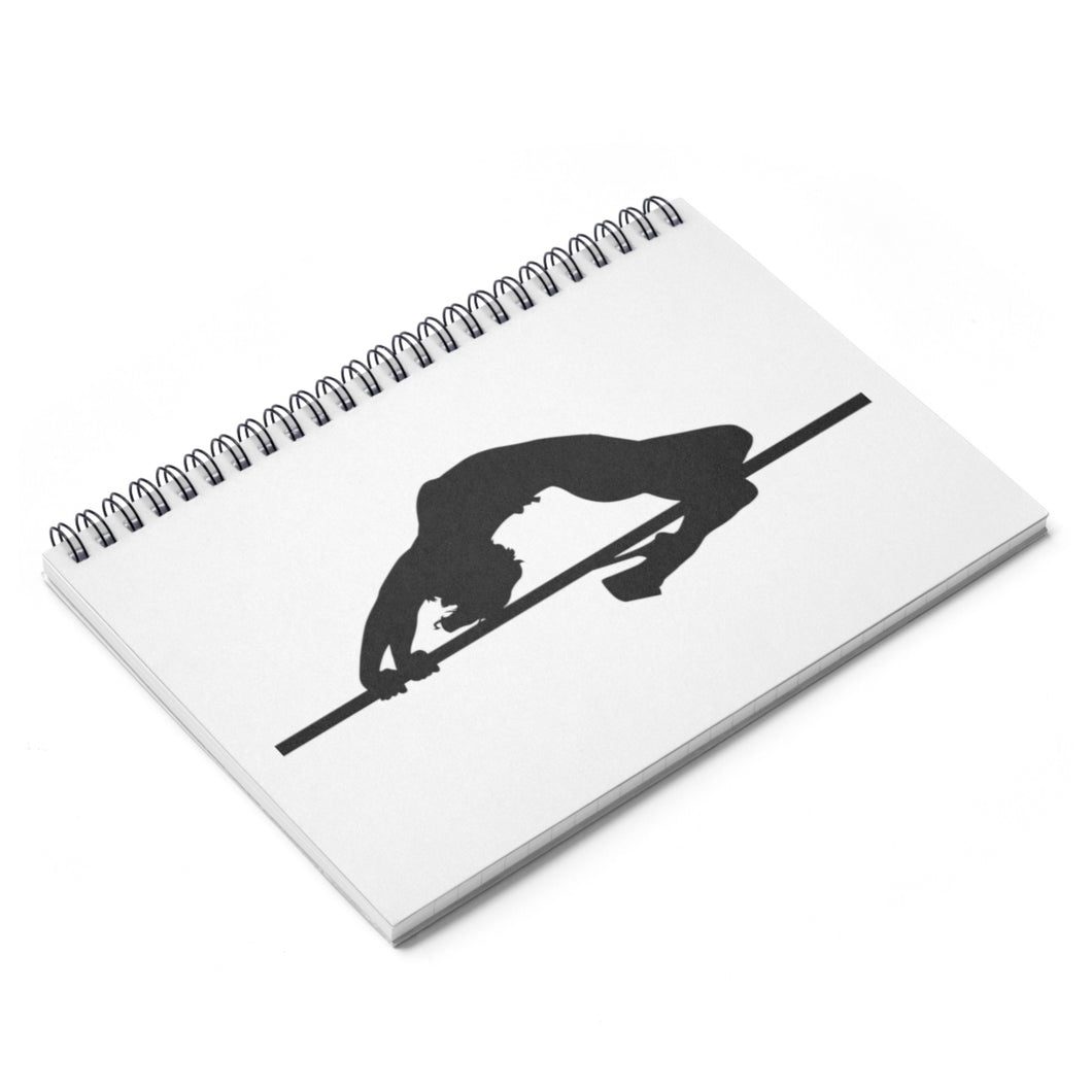 Pole dancer silhouette Spiral Notebook - Ruled Line
