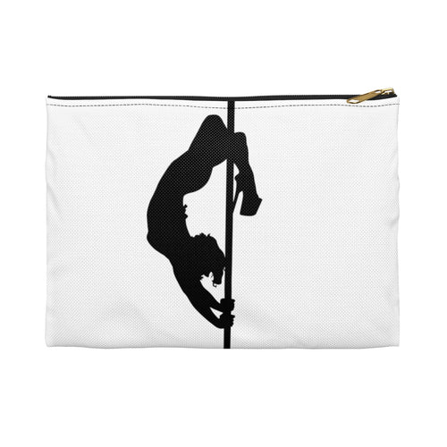 Pole dancer silhouette Accessory Pouch Makeup Bag