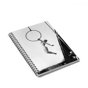 Black & White artistic aerial hoop Spiral Notebook - Ruled Line