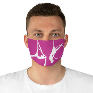 Circus Girl Fabric Face Mask-Hot Pink