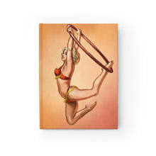 Load image into Gallery viewer, Pinup burlesque aerialist acrobat in Lyra Journal - Blank (aerial hoop)