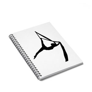 Aerialist aerial silks acrobat Spiral Notebook - Ruled Line