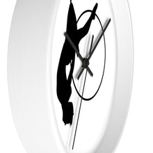 Load image into Gallery viewer, Aerialist aerial hoop acrobat in Lyra Wall clock