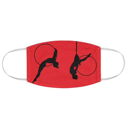 Aerial Hoop silhouette Fabric Face Mask