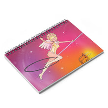 Load image into Gallery viewer, Whimsical singing aerialist hoop art Spiral Notebook - Ruled Line