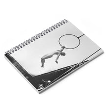 Load image into Gallery viewer, Black & White artistic aerial hoop Spiral Notebook - Ruled Line