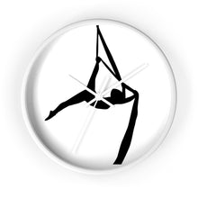 Load image into Gallery viewer, Aerialist aerial silks acrobat Wall clock