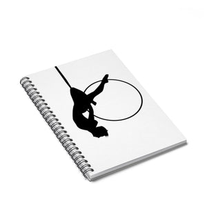Aerialist aerial hoop acrobat in Lyra Spiral Notebook - Ruled Line