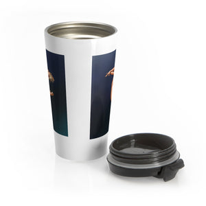 Pinup burlesque pole dancer artwork Stainless Steel Travel Mug