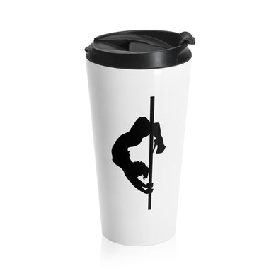 Pole dancer silhouette Stainless Steel Travel Mug
