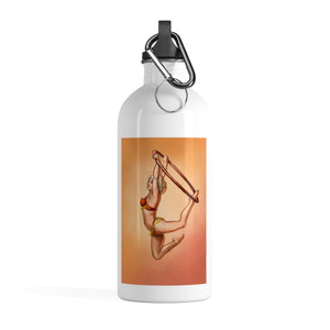Pinup burlesque aerialist acrobat in Lyra Stainless Steel Water Bottle